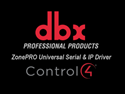Picture of dbx ZonePRO Universal IP & RS232 Control4 Driver