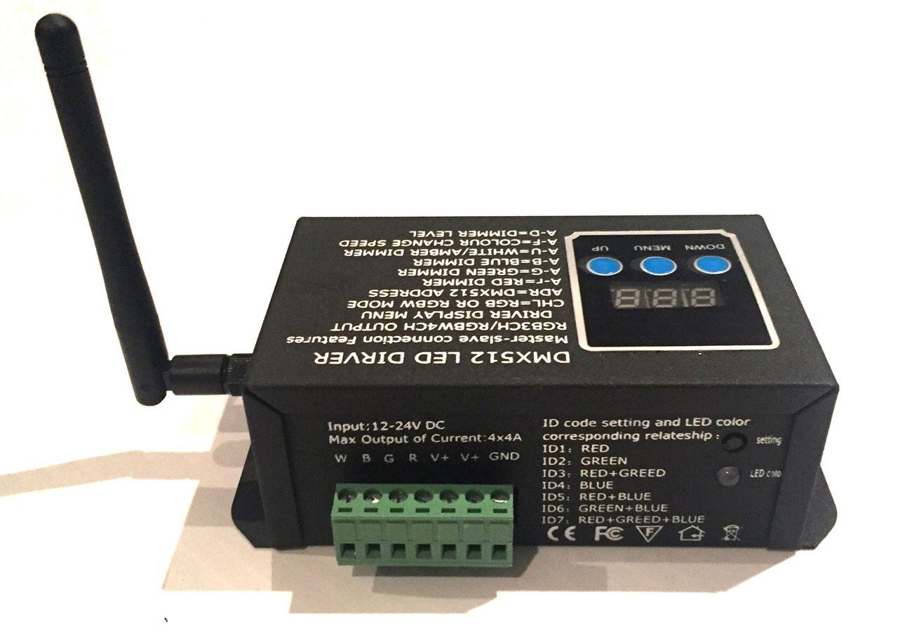 HouseLogix  Wireless 4-Ch RGBW DMX Decoder
