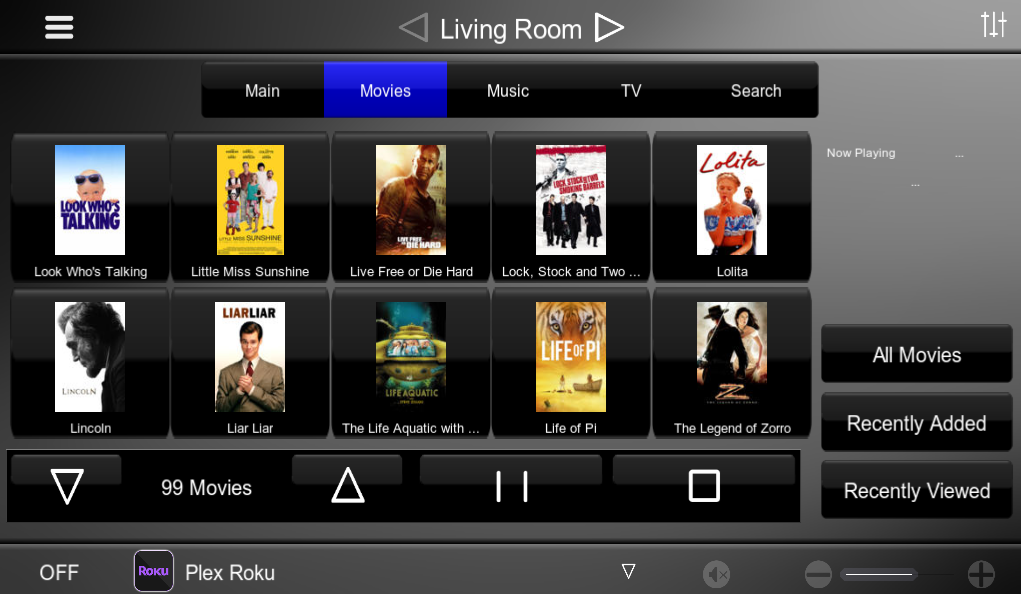 HouseLogix  Plex Roku Channel for Elan